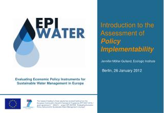 Introduction to the Assessment of Policy Implementability