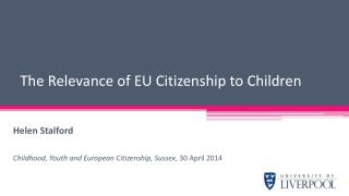 The Relevance of EU Citizenship to Children