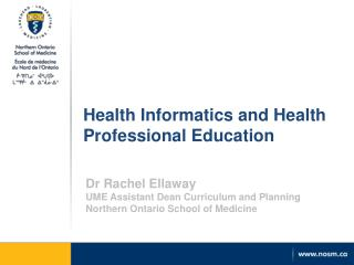 Health Informatics and Health Professional Education