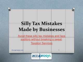 Taxation Services in Hyderabad - Accuprosys