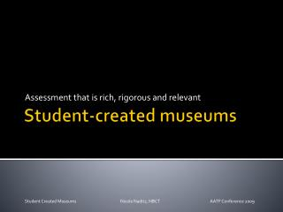 Student-created museums