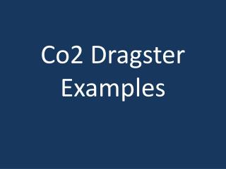 Co2 Dragster Examples