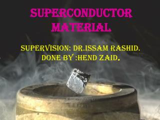 Superconductor material