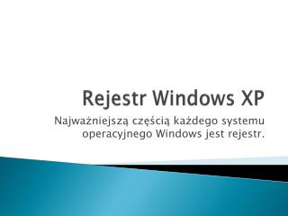 Rejestr Windows XP