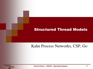 Structured Thread Models