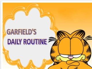 GARFIELD'S DAILY ROUTINE