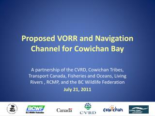 Proposed VORR and Navigation Channel for Cowichan Bay