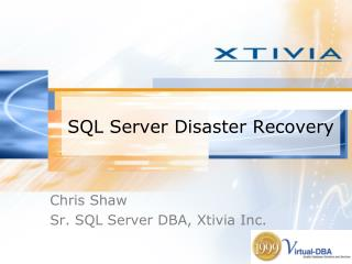 SQL Server Disaster Recovery