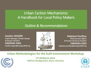 Urban Methodologies for the built environment Workshop 27-28 March 2014