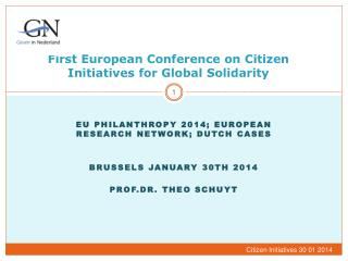 First  European  Conference  on Citizen Initiatives for  Global  Solidarity
