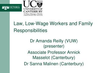 Law, Low-Wage Workers and Family Responsibilities