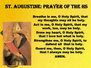 St .  Augustine: Prayer of the HS