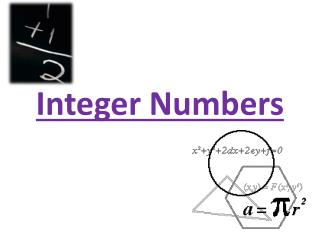 Integer Numbers