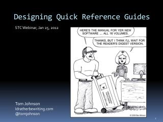 Designing Quick Reference Guides