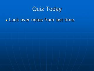 Quiz Today