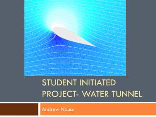 Student Initiated Project- Water Tunnel