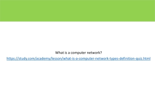 Fundamental of computer networks