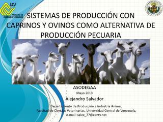 ASODEGAA  Mayo 2013 Alejandro  Salvador