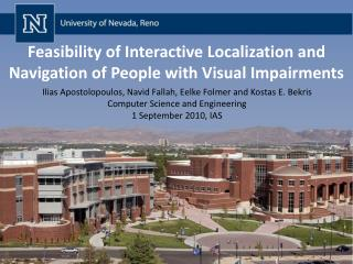 Feasibility of Interactive Localization and Navigation of People with Visual Impairments