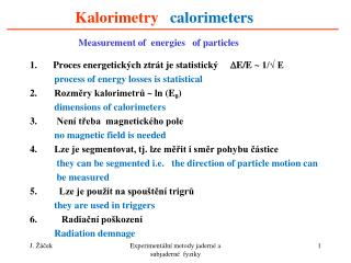Kalorimetry calorimeters