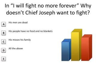 "In  ""I  will fight no more  forever""  Why doesn't C hief Joseph  want to fight?"