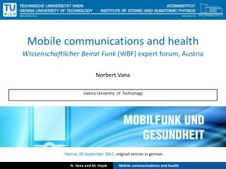 Mobile communications and health
