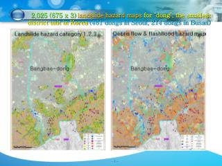 2,025 (675 x 3)  landslide hazard maps  for 'dong', the smallest