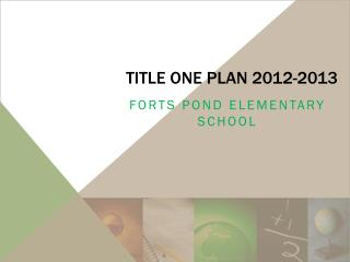 Title One Plan 2012-2013