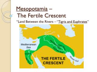 Mesopotamia  –  The Fertile Crescent
