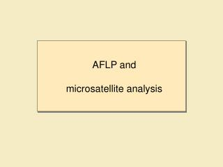 AFLP and  microsatellite analysis