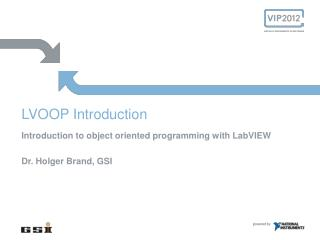 LVOOP  Introduction
