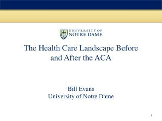 The Health Care Landscape Before and After the ACA