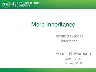 More Inheritance