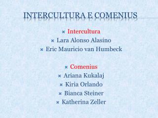 INTERCULTURA E  cOMENIUS