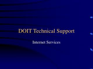 DOIT Technical Support