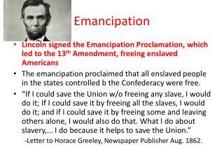 E mancipation