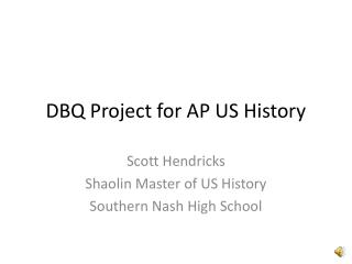 DBQ Project for AP US History