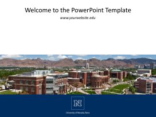 Welcome to the PowerPoint Template
