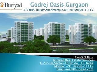 Godrej Properties New Launch Godrej Oasis in Gurgaon
