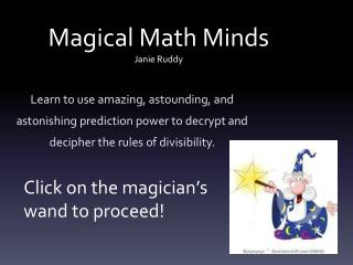 Magical Math Minds Janie Ruddy