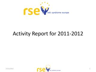 Activity  Report for  2011-2012