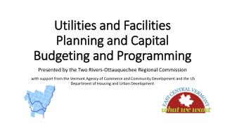 Utilities and Facilities Planning and Capital Budgeting and Programming