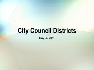 City Council Districts