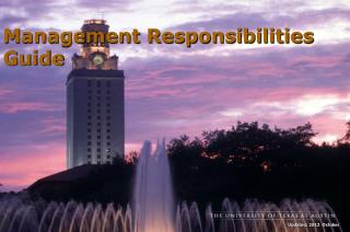 Management Responsibilities Guide