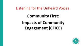 Listening for the Unheard  Voices