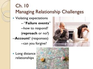 Ch. 10  Managing Relationship Challenges