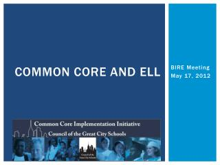 Common Core and ELL