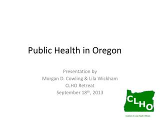 Public Health in Oregon