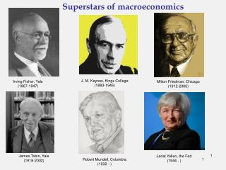 Superstars of macroeconomics