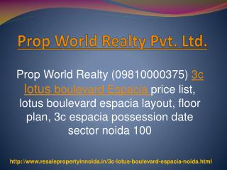 3C Lotus Boulevard Espacia Resale Price, Boulevard Sector 10